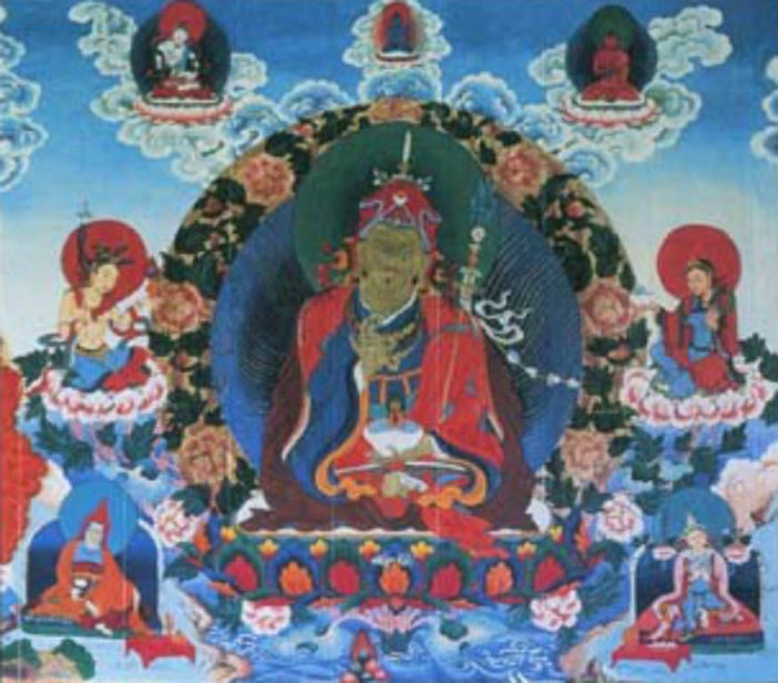 Stories and Meanings: Buddha sits on a throne of lotus blossoms