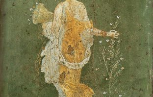 Goddess Flora gathering flowers